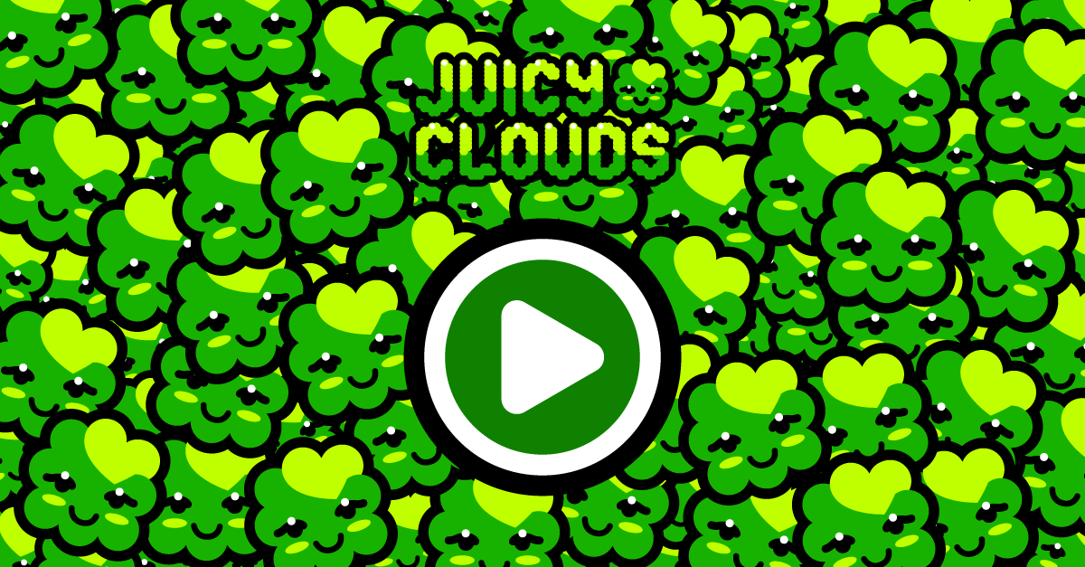 Juicy Clouds space level Green Sky