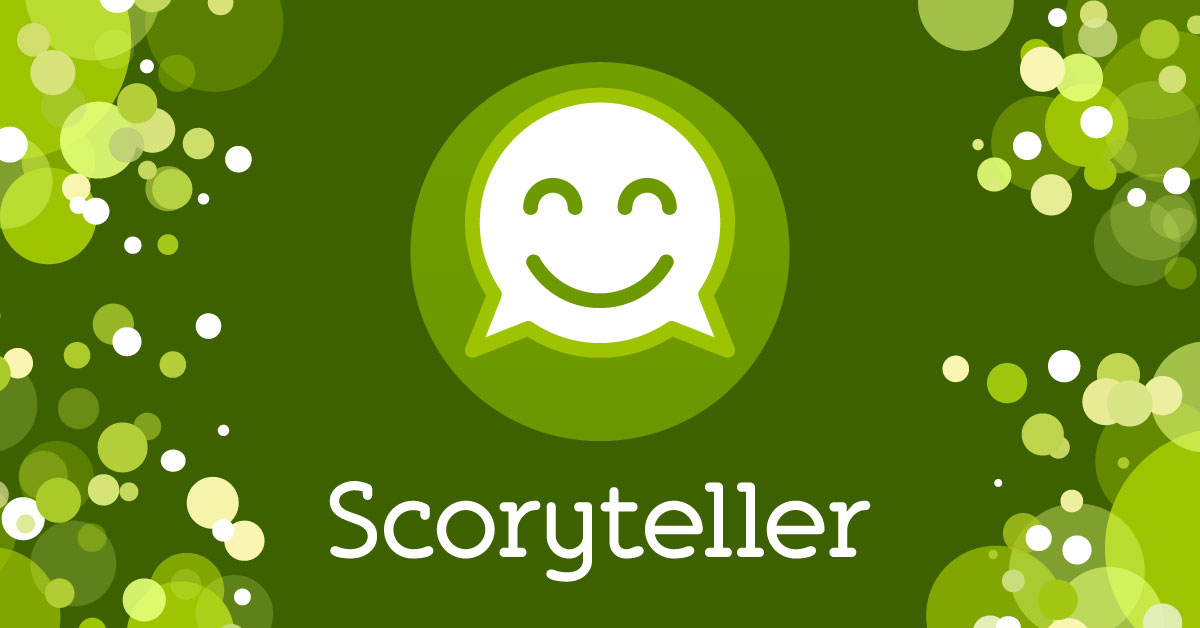 Scoryteller a social network for curious friends who desire more than show (off) and tell for iPhone and Android